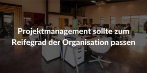 Projektmanagement Reifegrad Organisation
